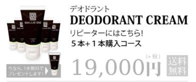 ガレイドデオドラントクリーム 5本+1本購入コース 19,000円