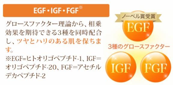 EGF・IGF・FGFを配合