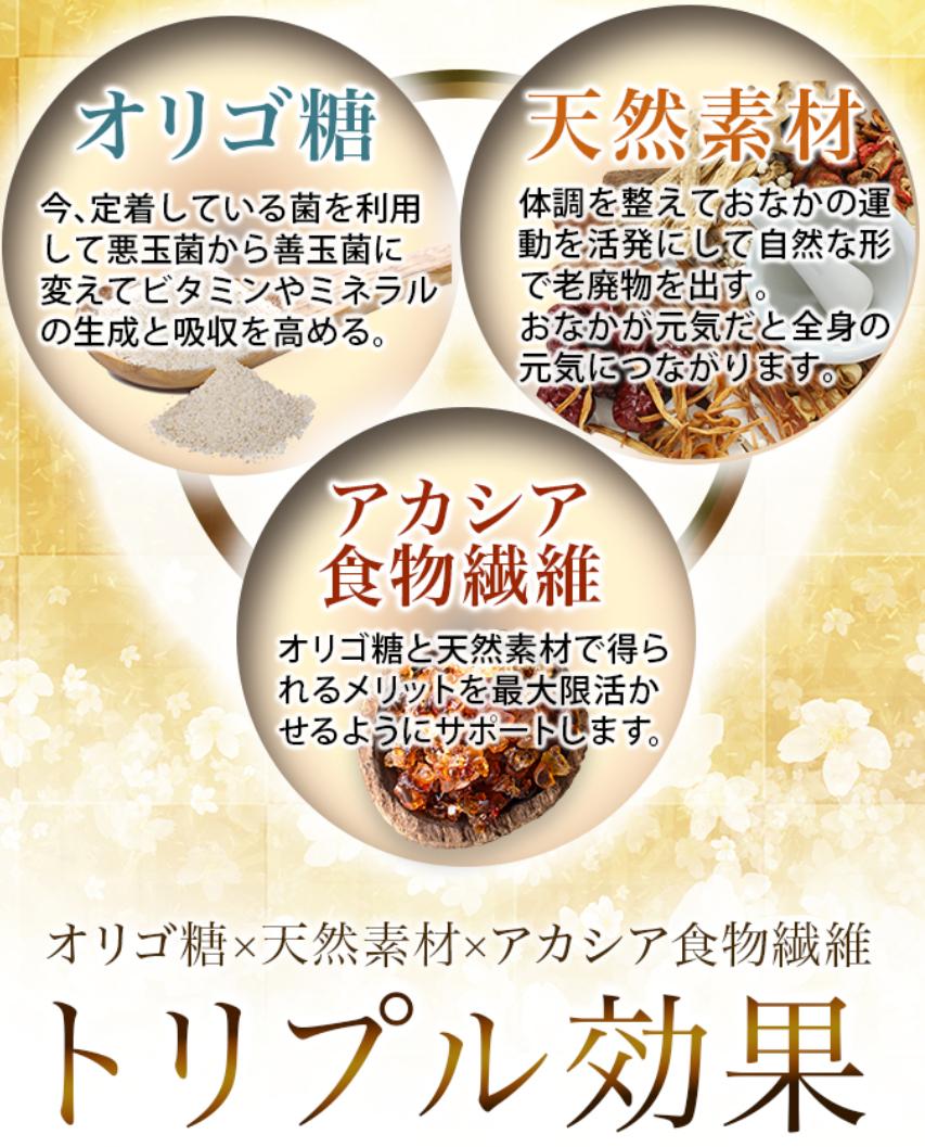 オリゴ糖×アカシア食物繊維×天然素材で便秘を改善