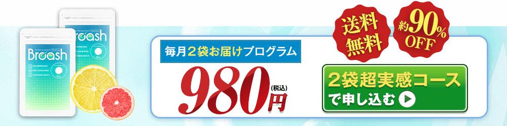 毎月2袋お届け定期プログラム初回限定980円