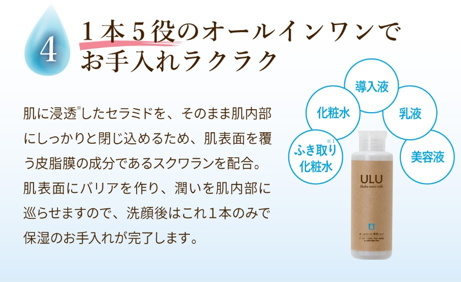 ウルウ(ULU)シェイクモイストミルクの使い方
