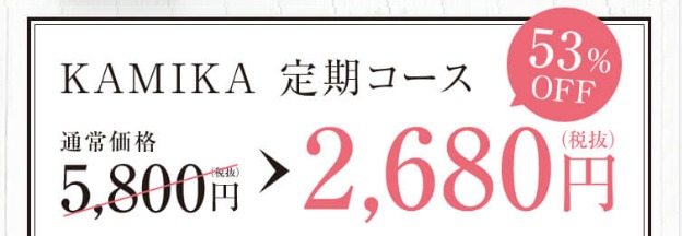 黒髪クリームシャンプーKAMIKA(カミカ) 特別キャンペーン情報