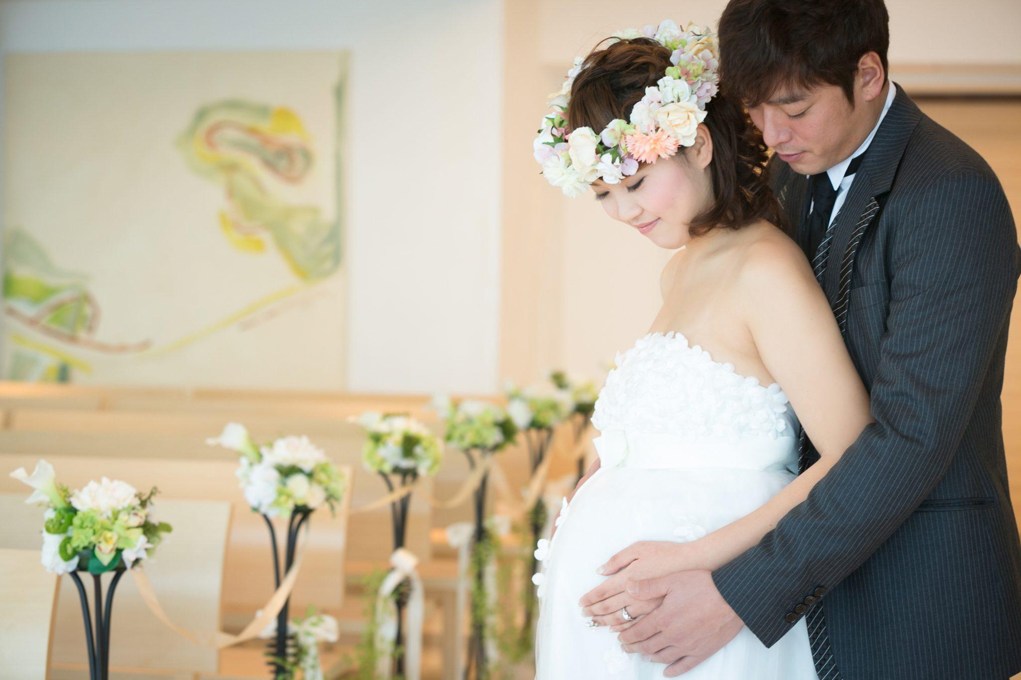 マタニティ ウェディング 結婚
