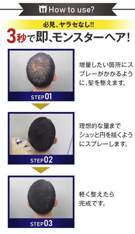 モンスターヘアの使い方