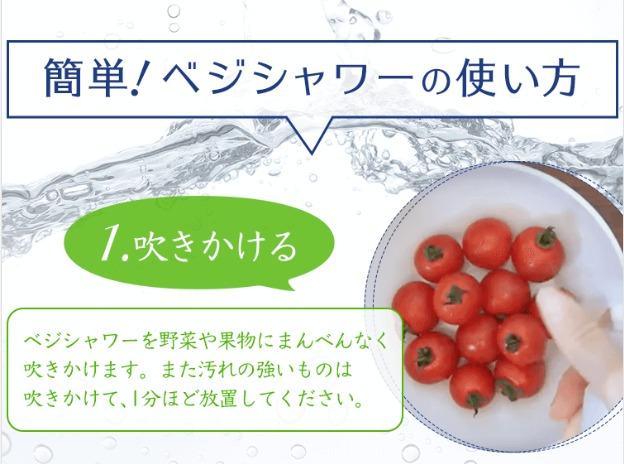 すっきり洗菜ベジシャワー 使い方1