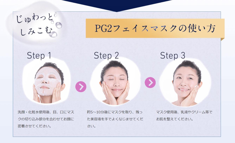 PG2フェイスマスクの使い方