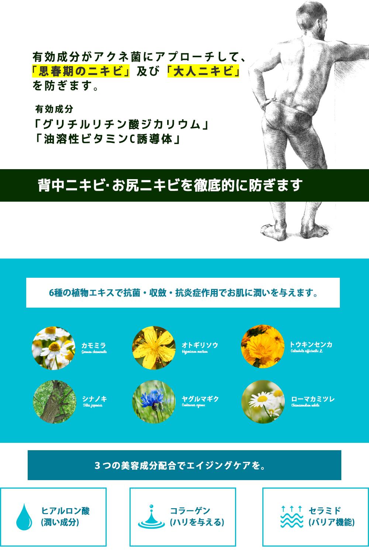 薬用NULLフレグランスボディウォッシュの効果・効能
