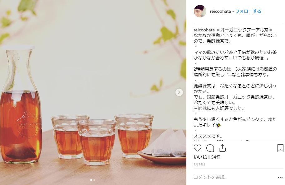 国産オーガニック発酵緑茶 インスタ
